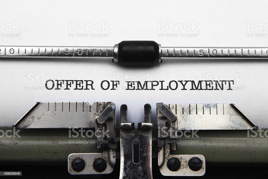 Offer of employment royalty-free stock photo