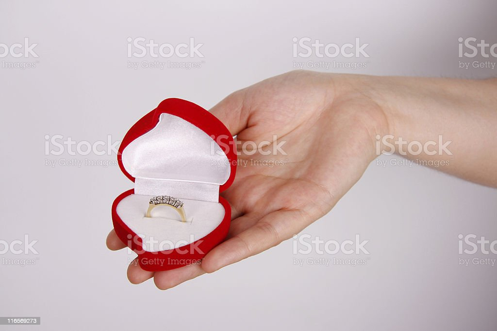 Offer of Marriage royalty-free stock photo