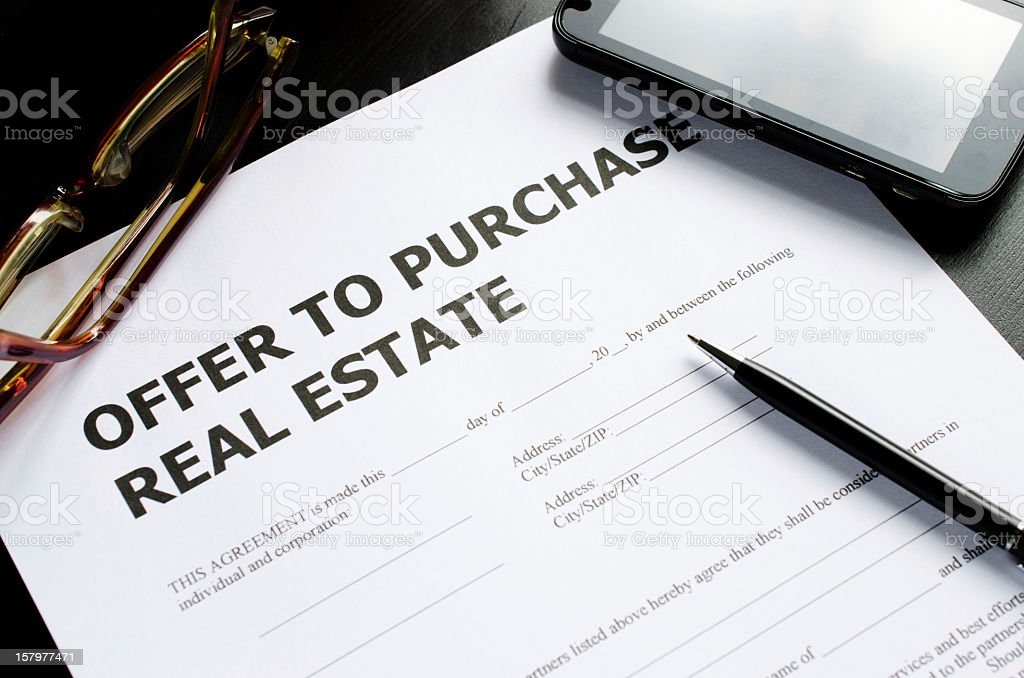 offer to purchase real estate royalty-free stock photo