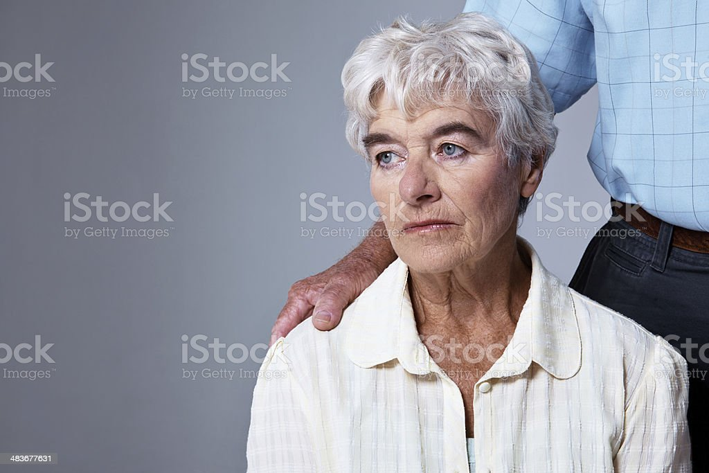 Offering a loving hand stock photo