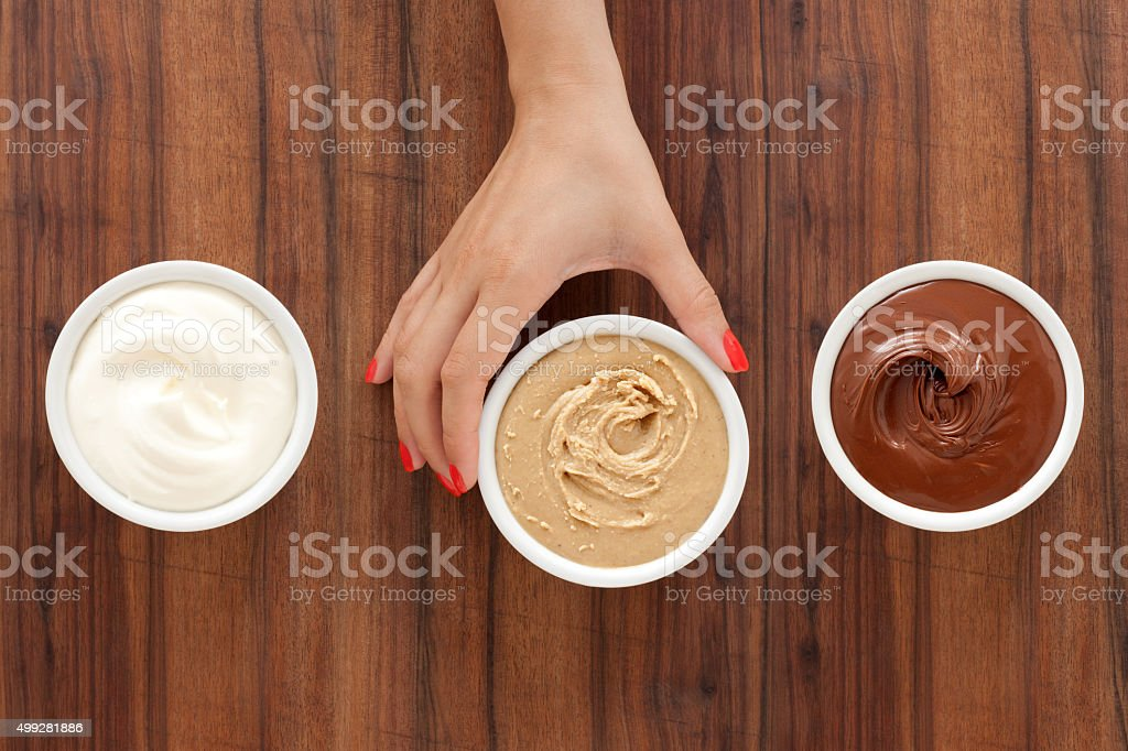 Offering baking spreads stock photo