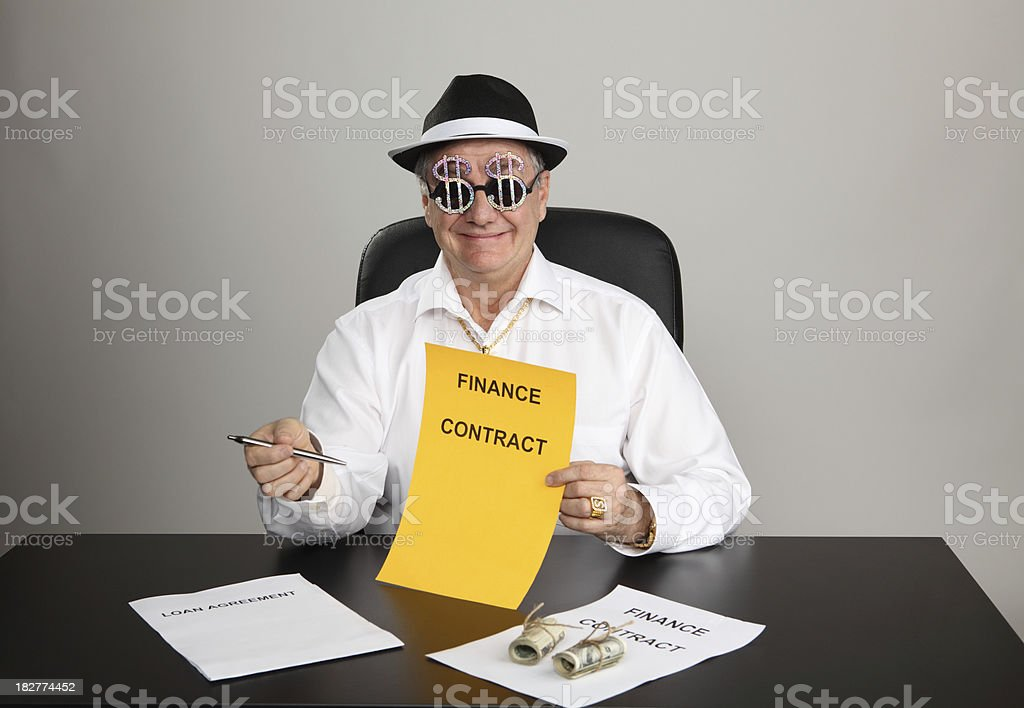Offering Contract royalty-free stock photo