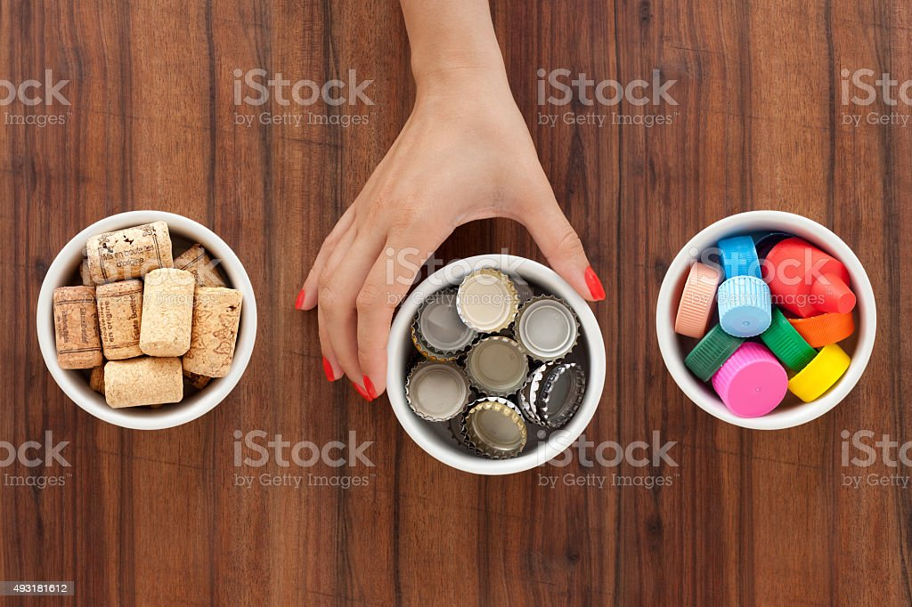 Offering drink related items stock photo