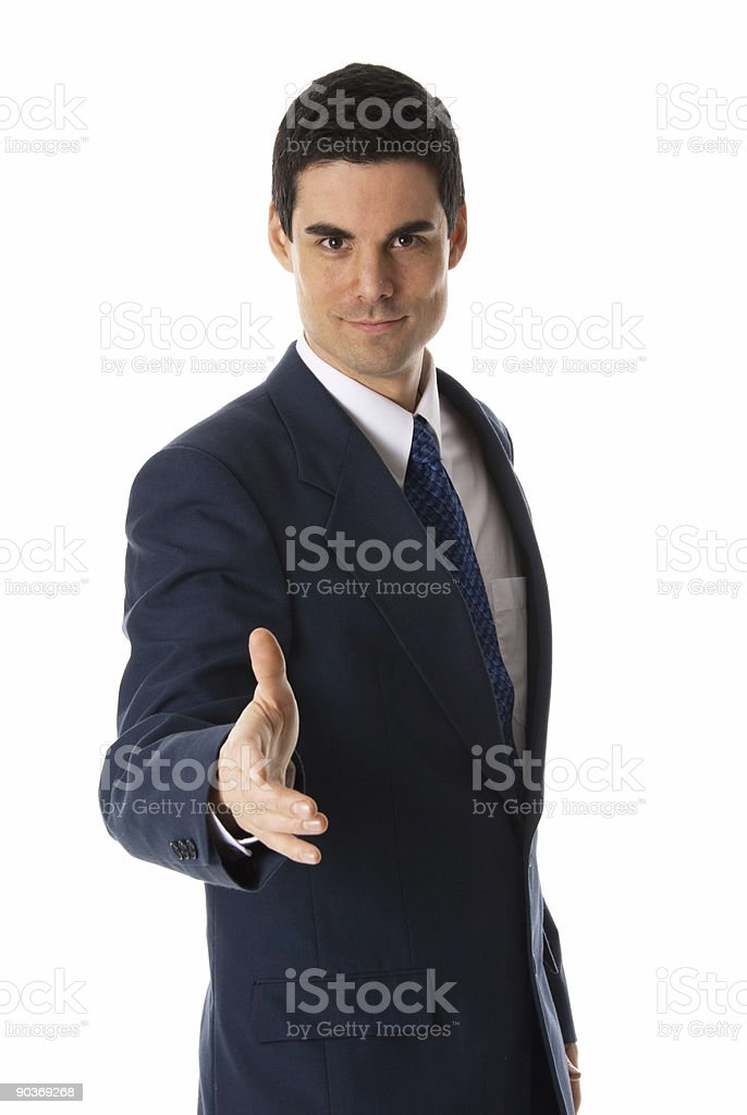 Offering hand royalty-free stock photo