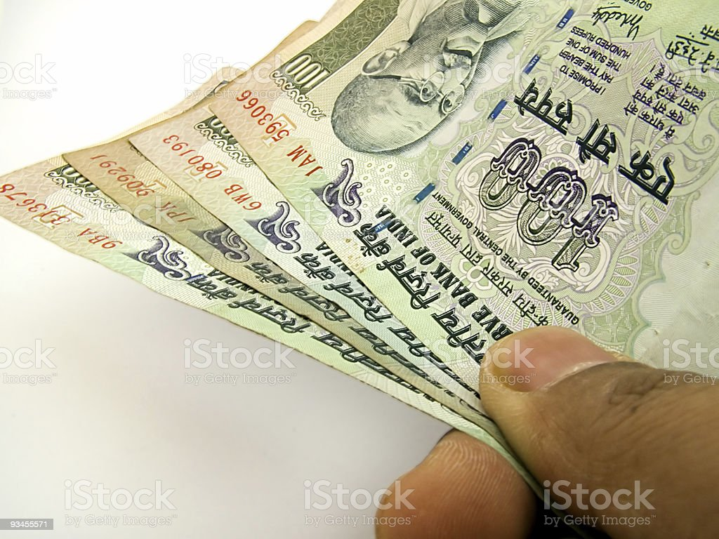 Offering Indian Currency royalty-free stock photo
