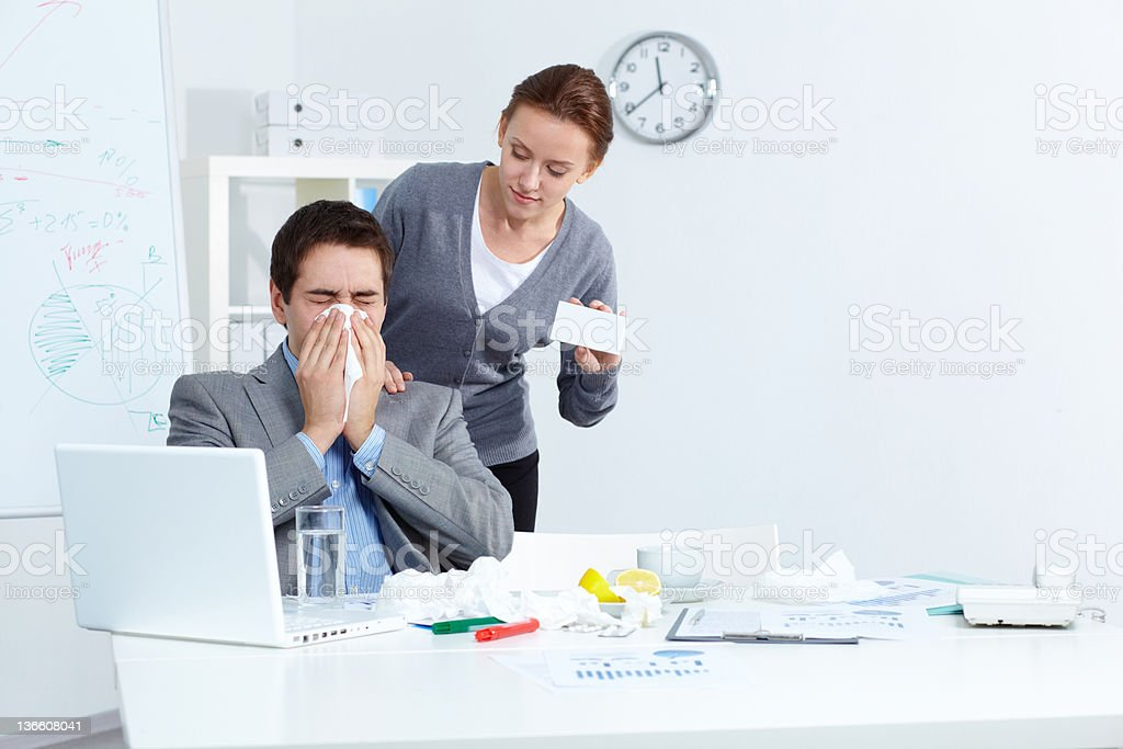 Offering medicine royalty-free stock photo