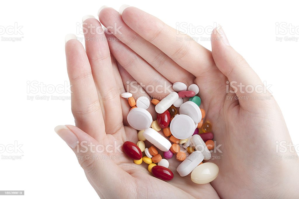 Offering medicines royalty-free stock photo