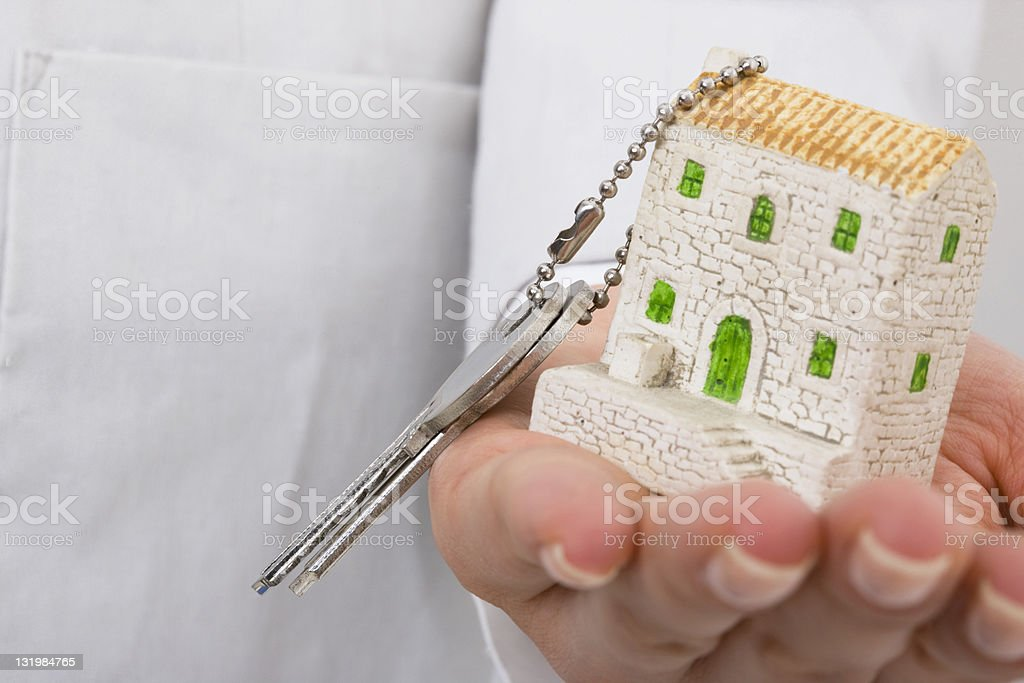 Offering model home with key royalty-free stock photo