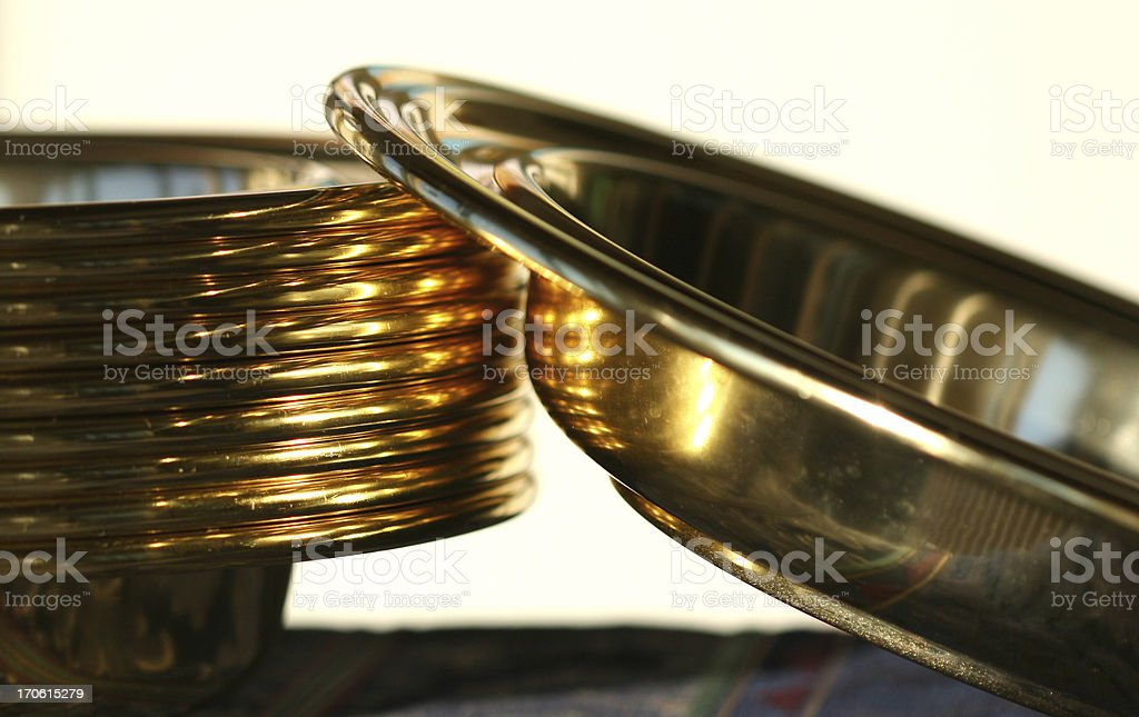 Offering Plates Abstract stock photo