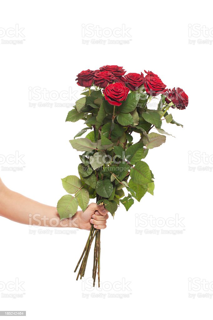 offering roses stock photo