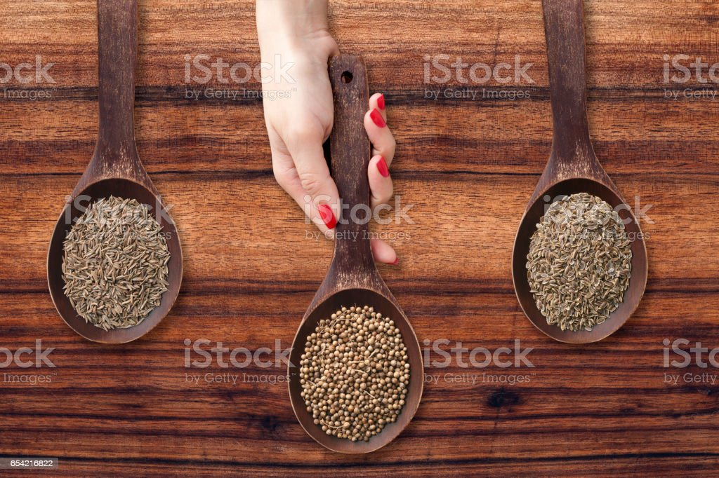 Offering seeds stock photo