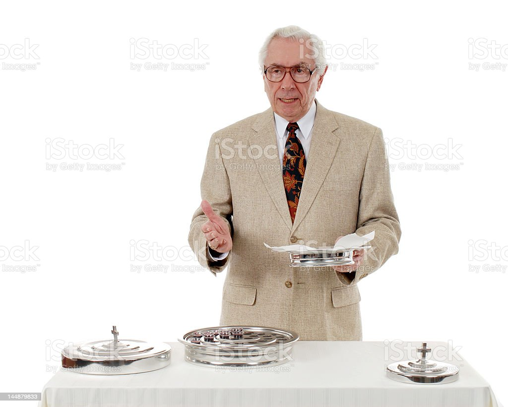 Offering the Communion Bread royalty-free stock photo