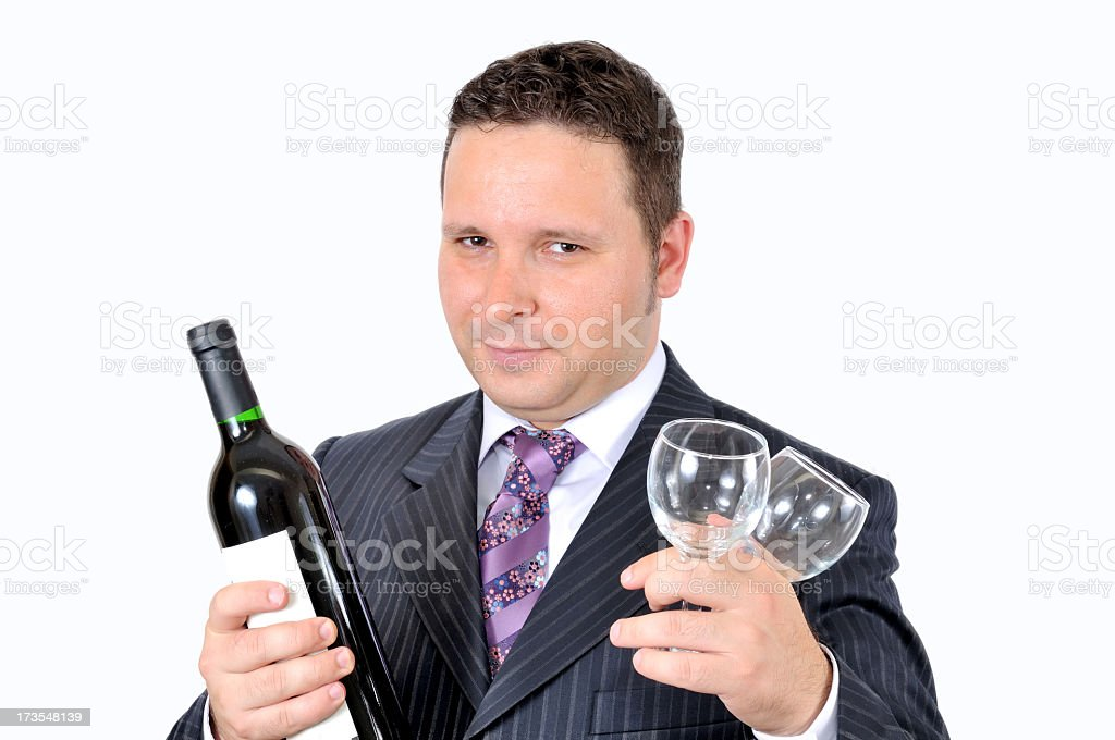 Offering wine royalty-free stock photo