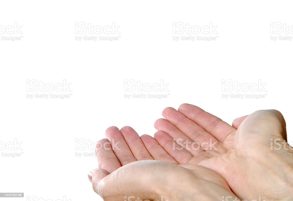 Offering with both hands royalty-free stock photo
