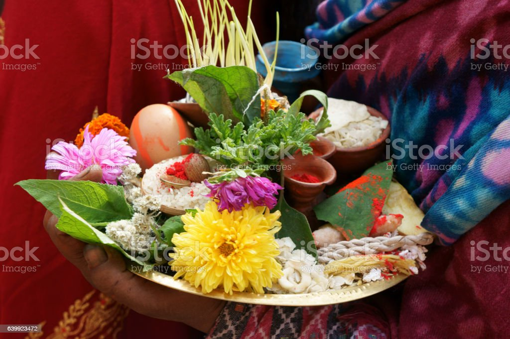 offerings carried out by women, linked to fertility stock photo