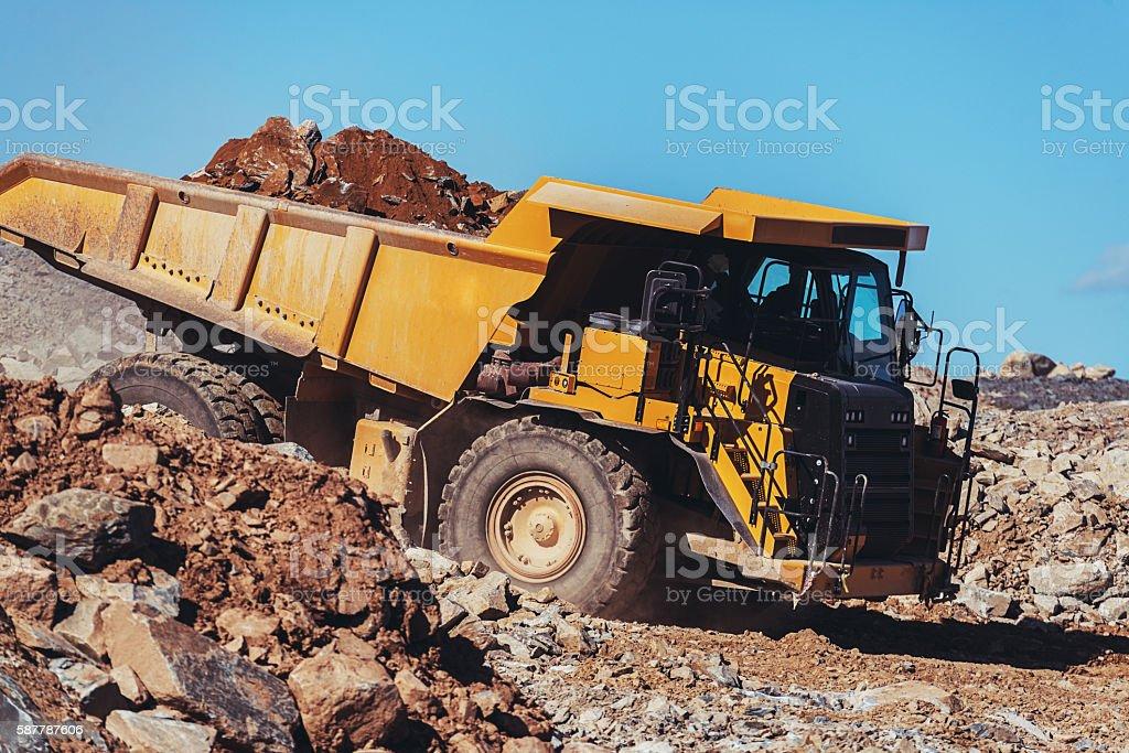 Off-Highway Dump Truck stock photo