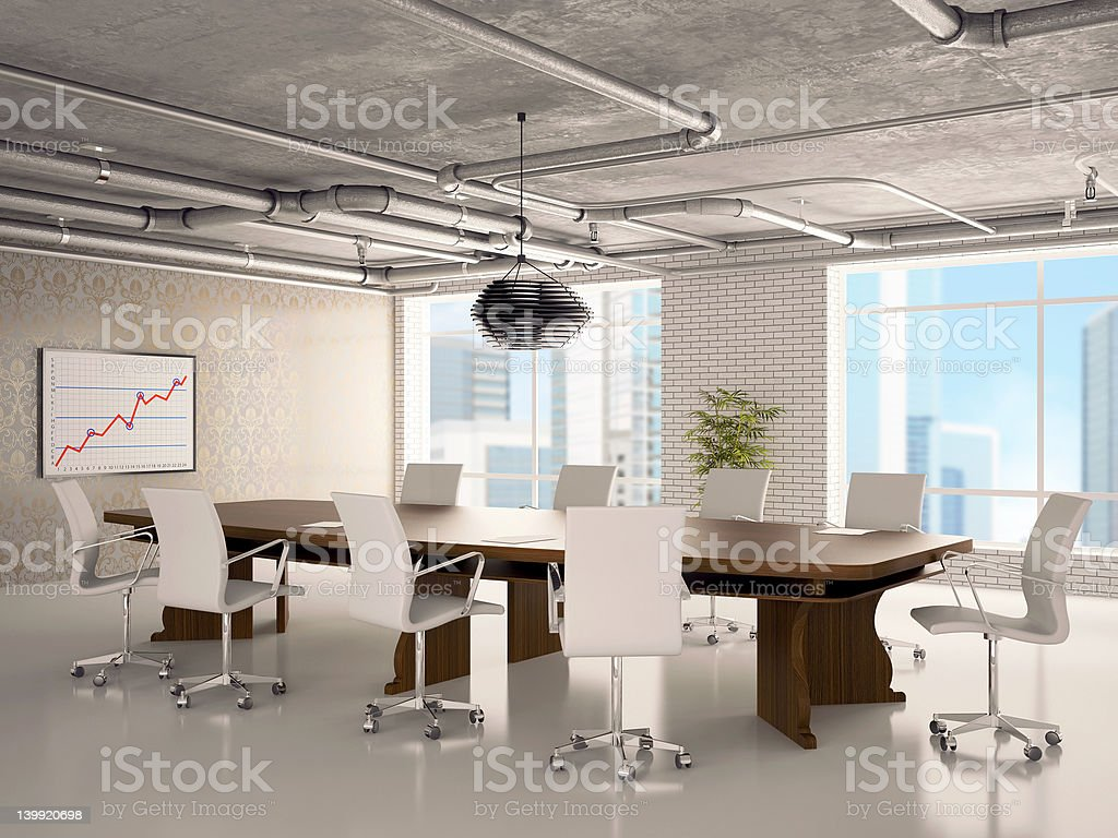 Office - a hall for meetings royalty-free stock photo