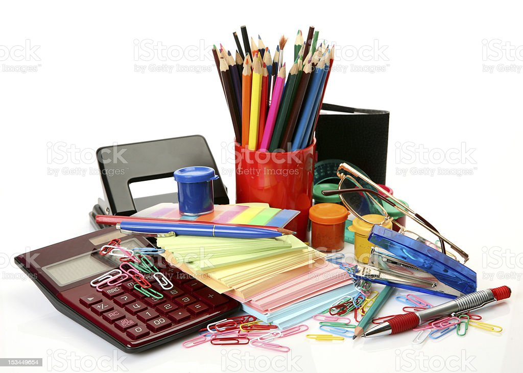 Office accessories royalty-free stock photo