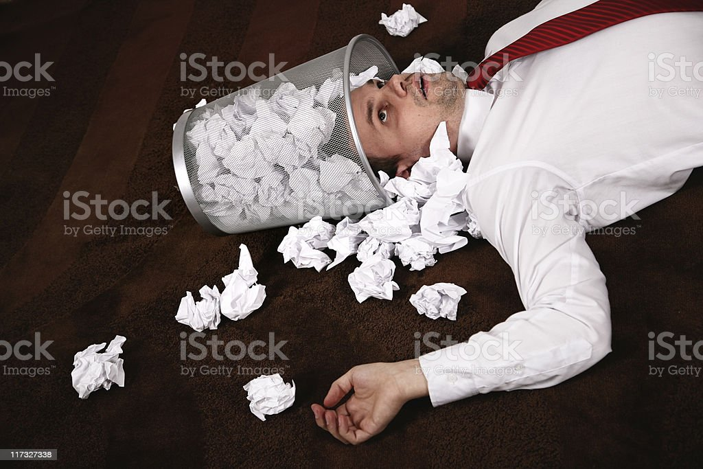 office accident stock photo