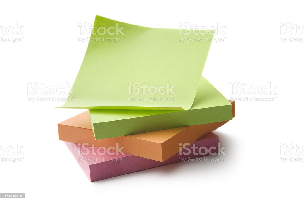 Office: Adhesive Notes royalty-free stock photo