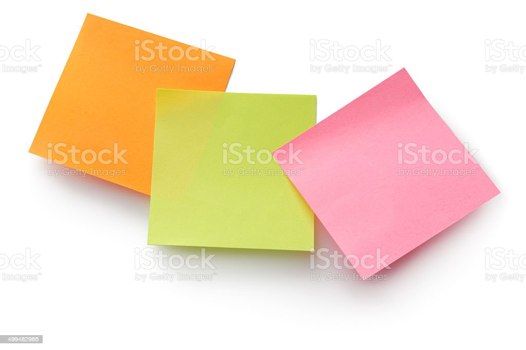 Office: Adhesive Notes stock photo