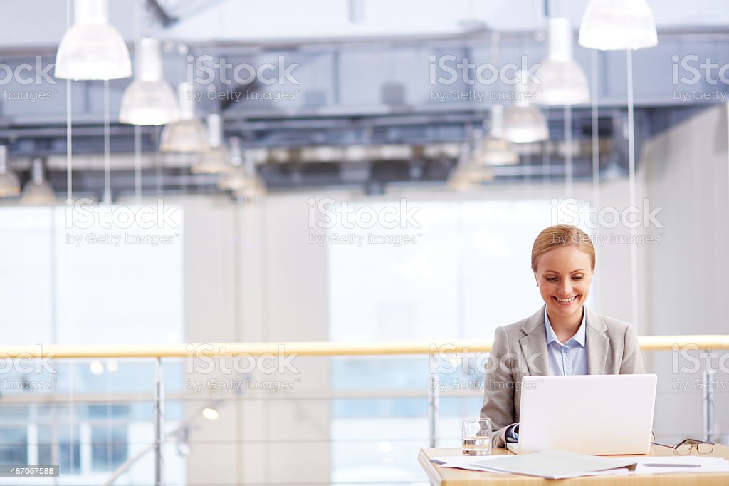 Office administrator at work stock photo