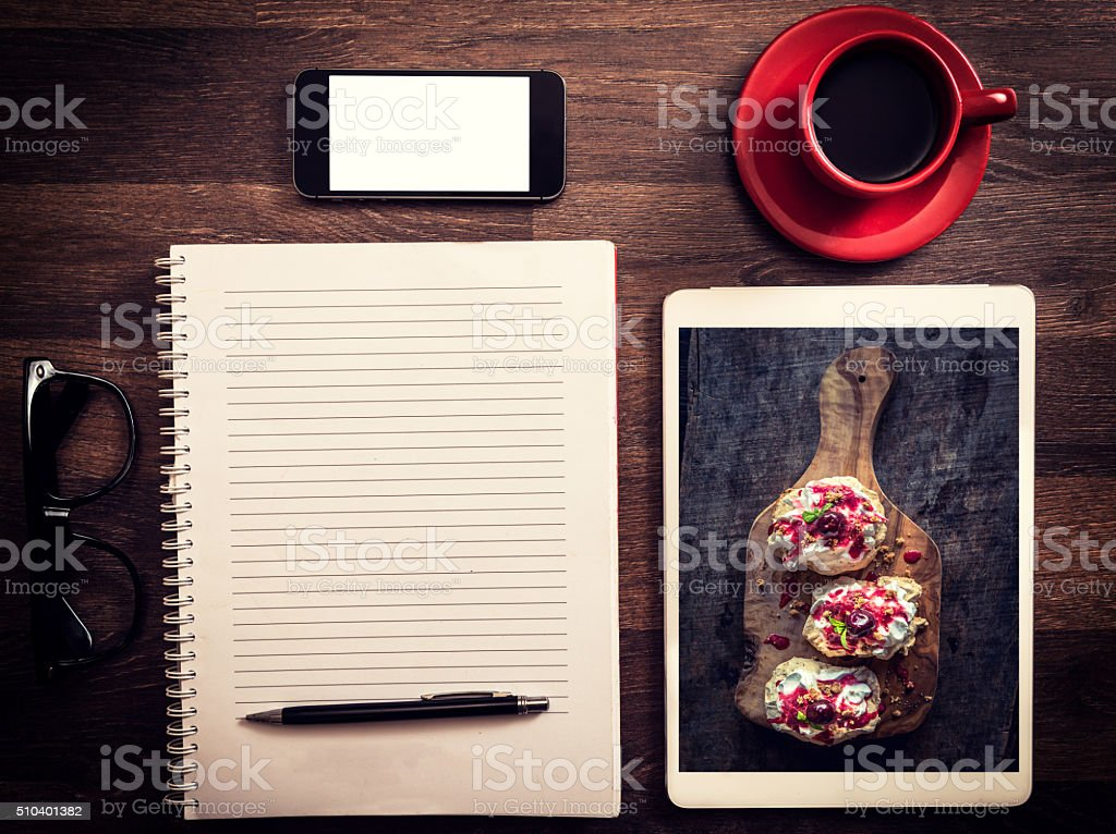 Office and blog concept stock photo