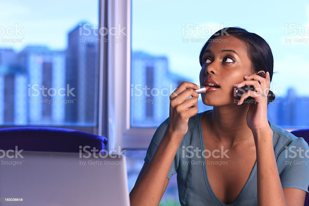 Office and makeup royalty-free stock photo