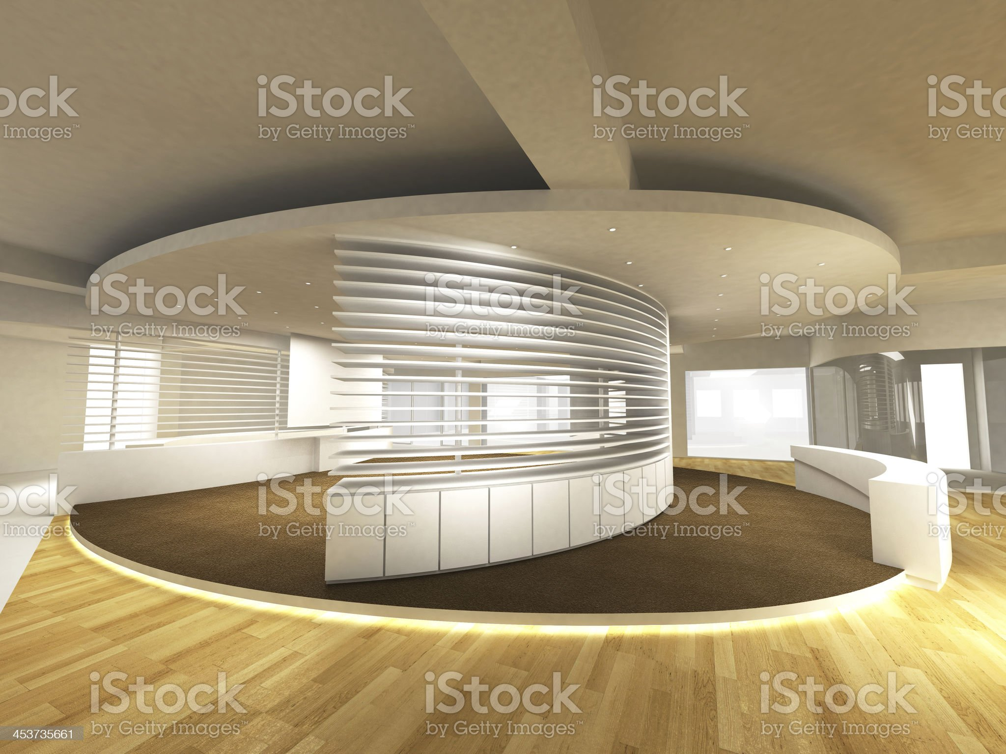 Office Area with Reception Counter royalty-free stock photo