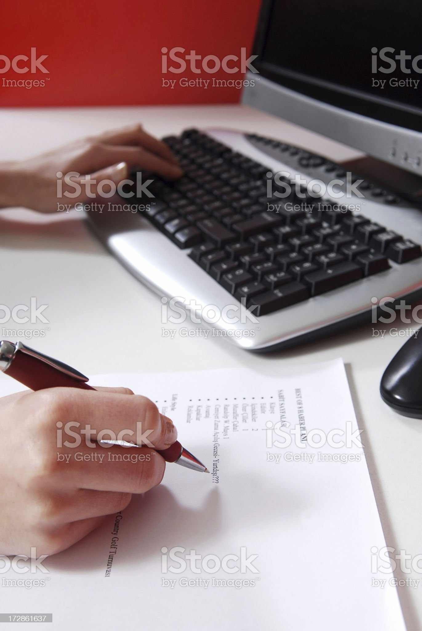 office athmosphere royalty-free stock photo