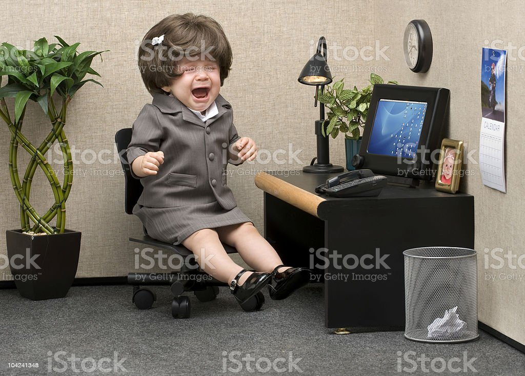 Office Babe stock photo