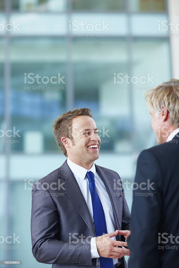 Office banter royalty-free stock photo