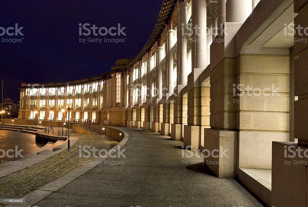 Office Block at Night royalty-free stock photo