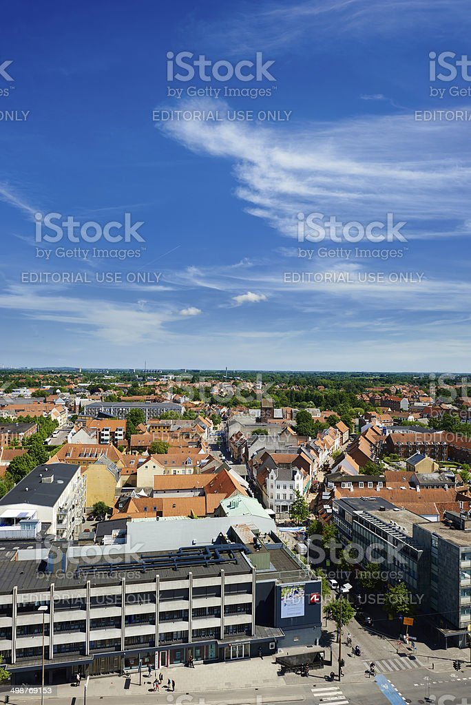 Office blocks and houses in Odense royalty-free stock photo