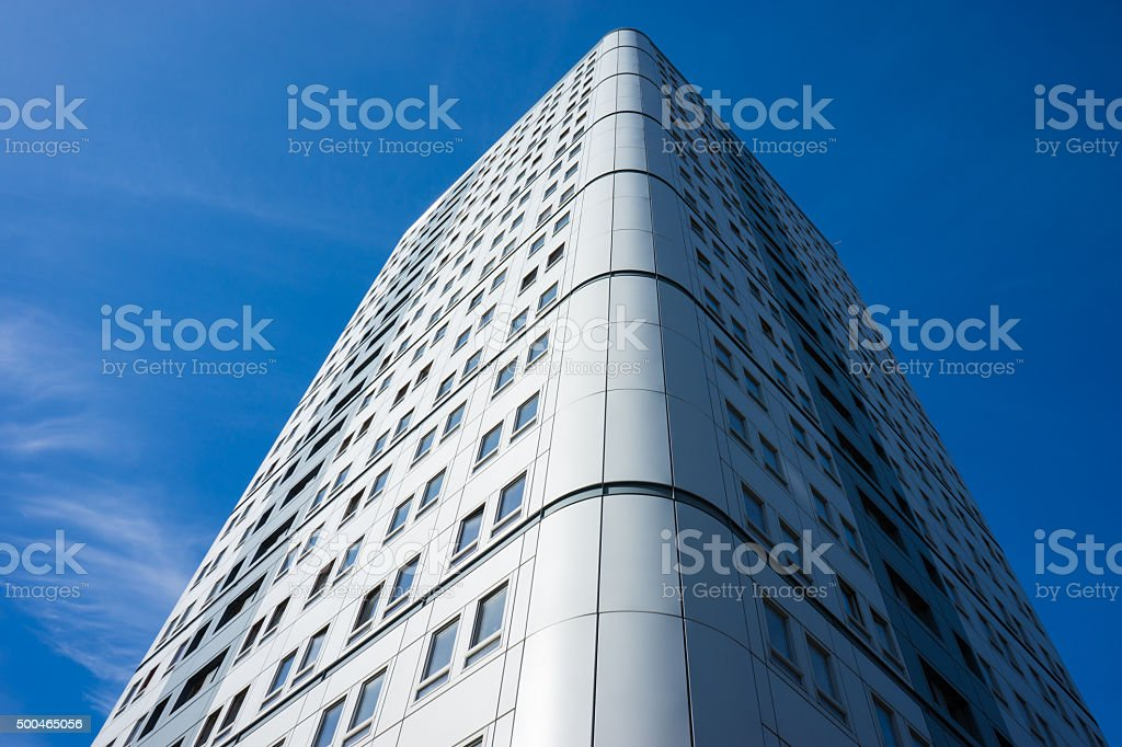 Office blocks - view from below stock photo
