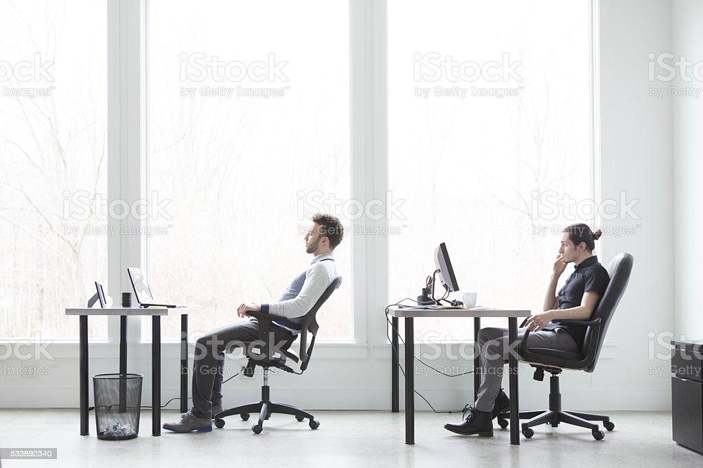 Office Boredom stock photo