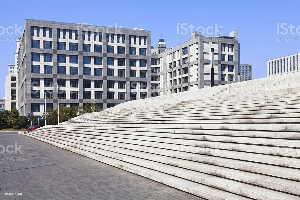 Office building and steps royalty-free stock photo