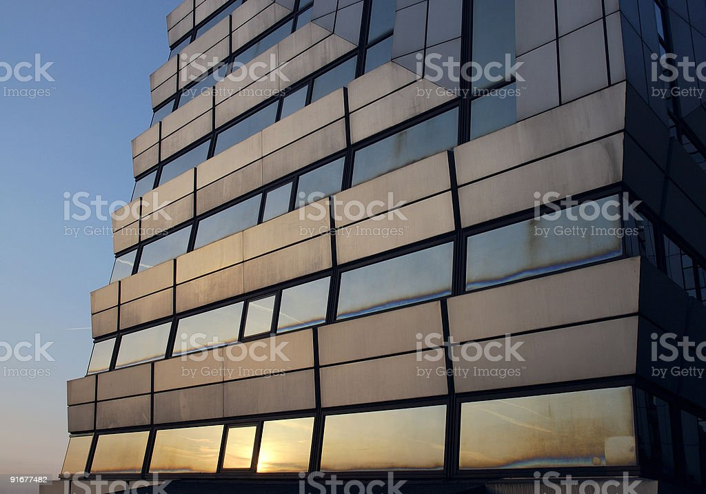 Office building at dawn royalty-free stock photo