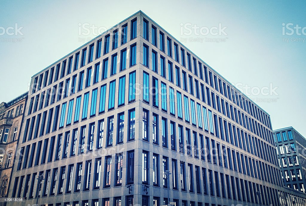 office building at friedrichstrasse stock photo