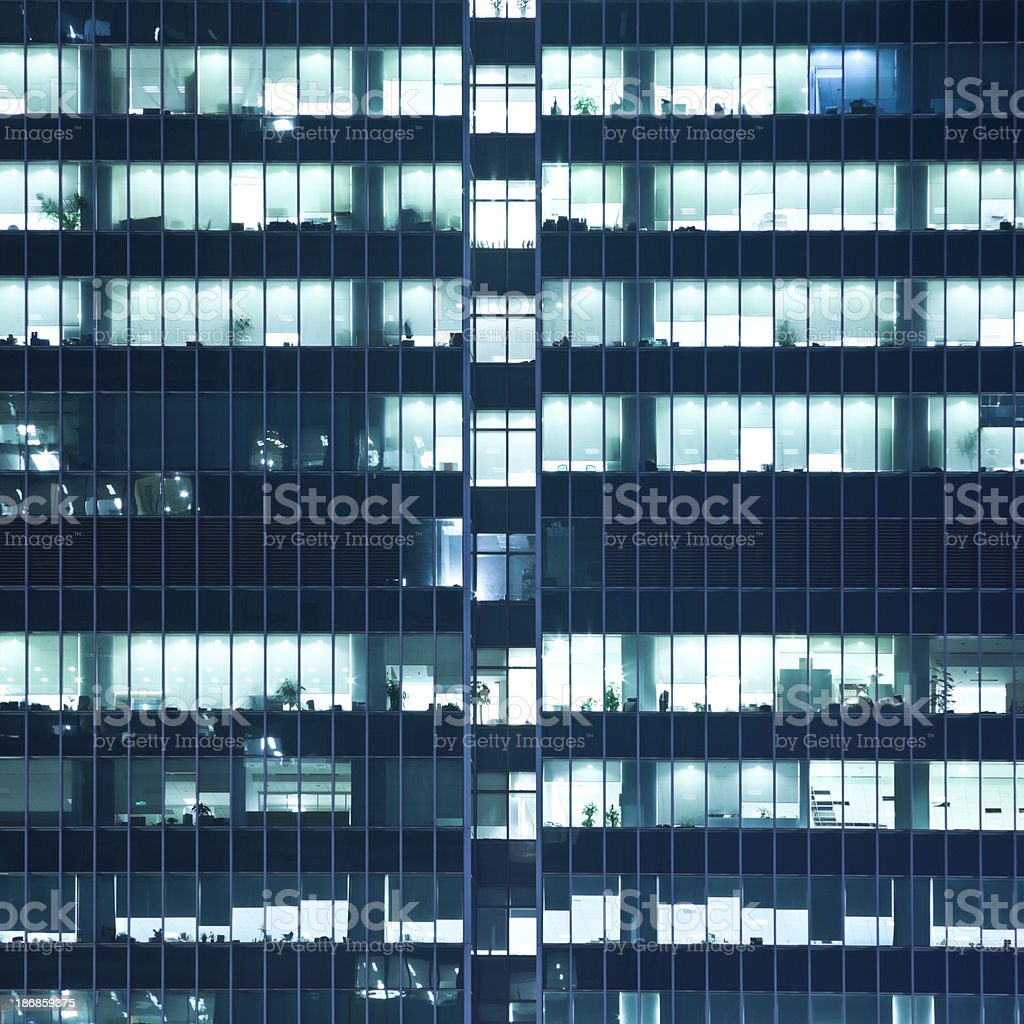 Office building at night royalty-free stock photo