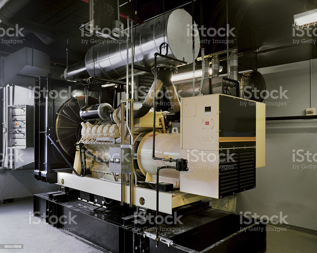 Office building Backup Generator stock photo