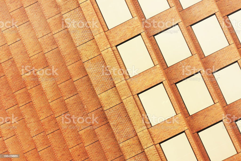 Office Building Brick Window Facade royalty-free stock photo