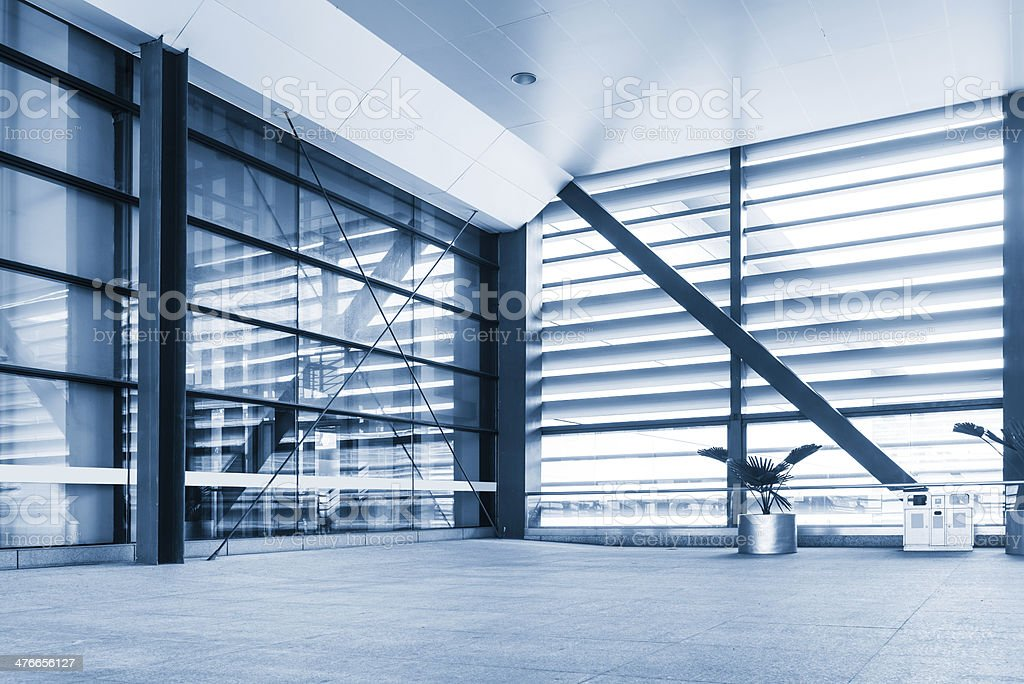 office building corridor royalty-free stock photo