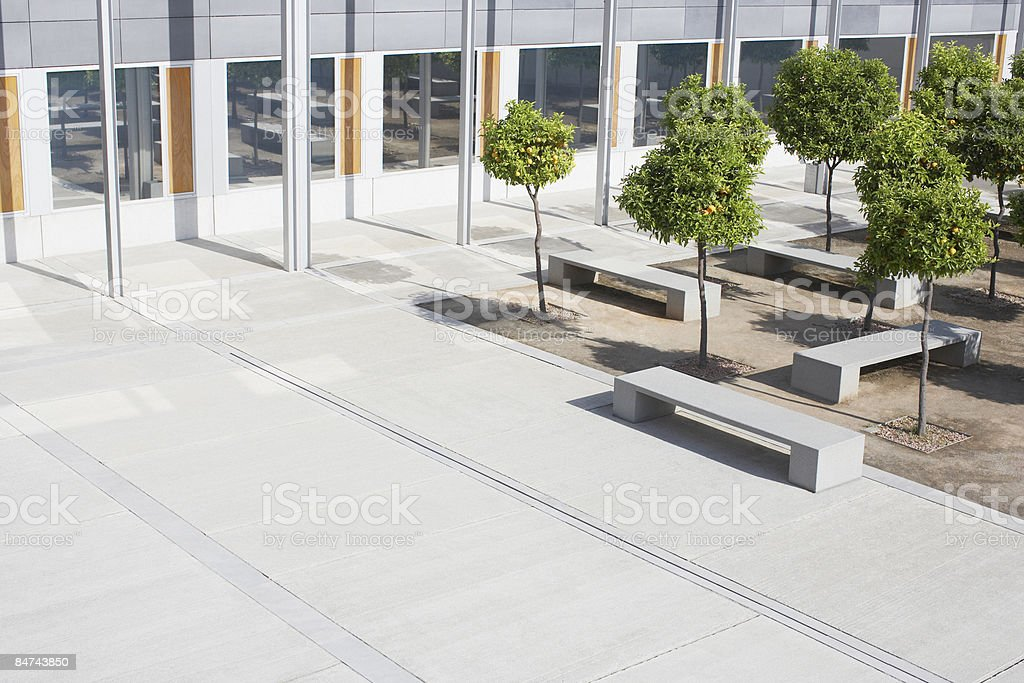 Office building courtyard stock photo