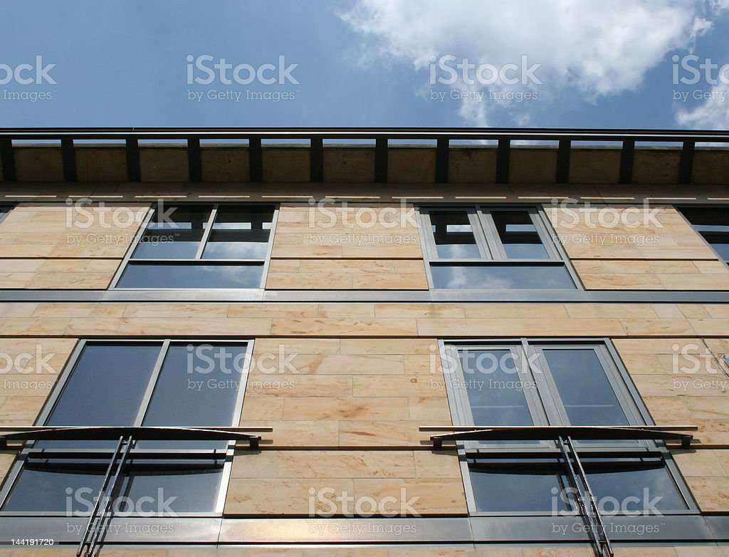 Office building detail stock photo