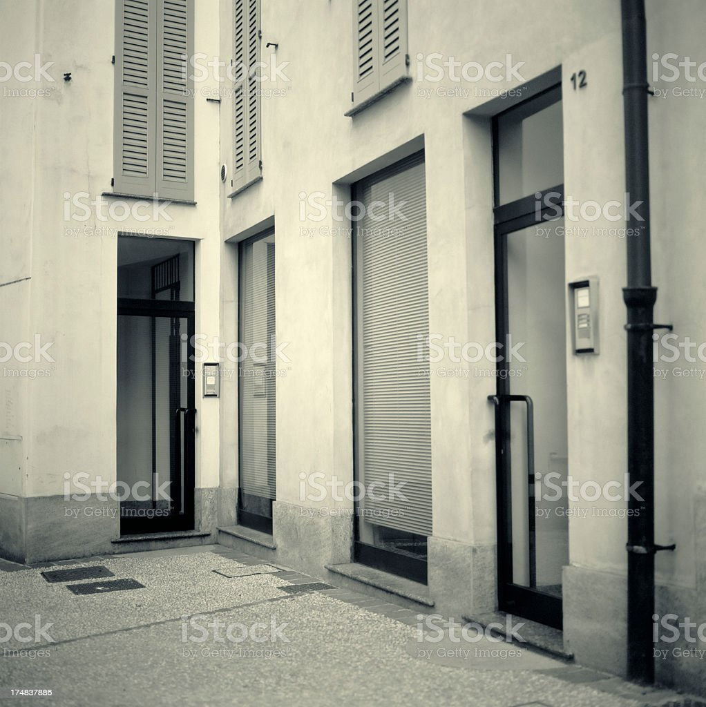 Office building entrance, ground floor royalty-free stock photo