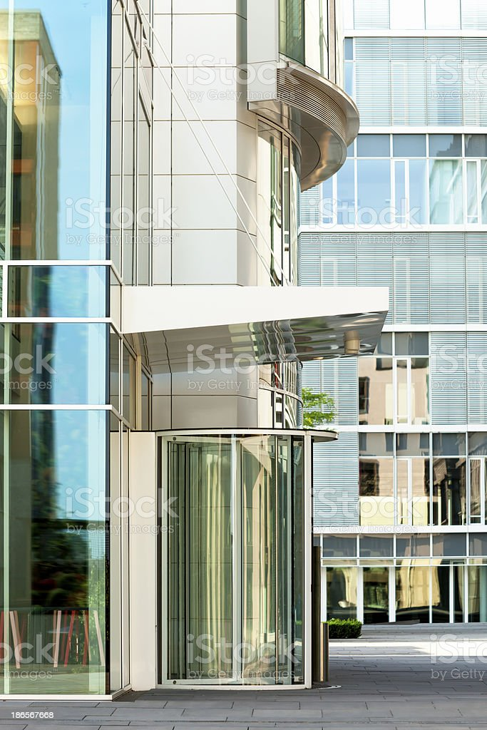 Office Building Entrance With Revolving Door royalty-free stock photo