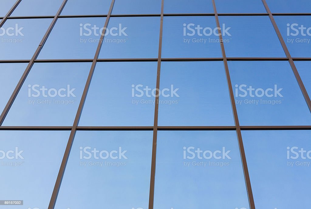 Office building exterior #5. Windows in perspective view royalty-free stock photo