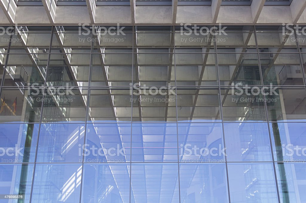 office  building facade detail - background stock photo