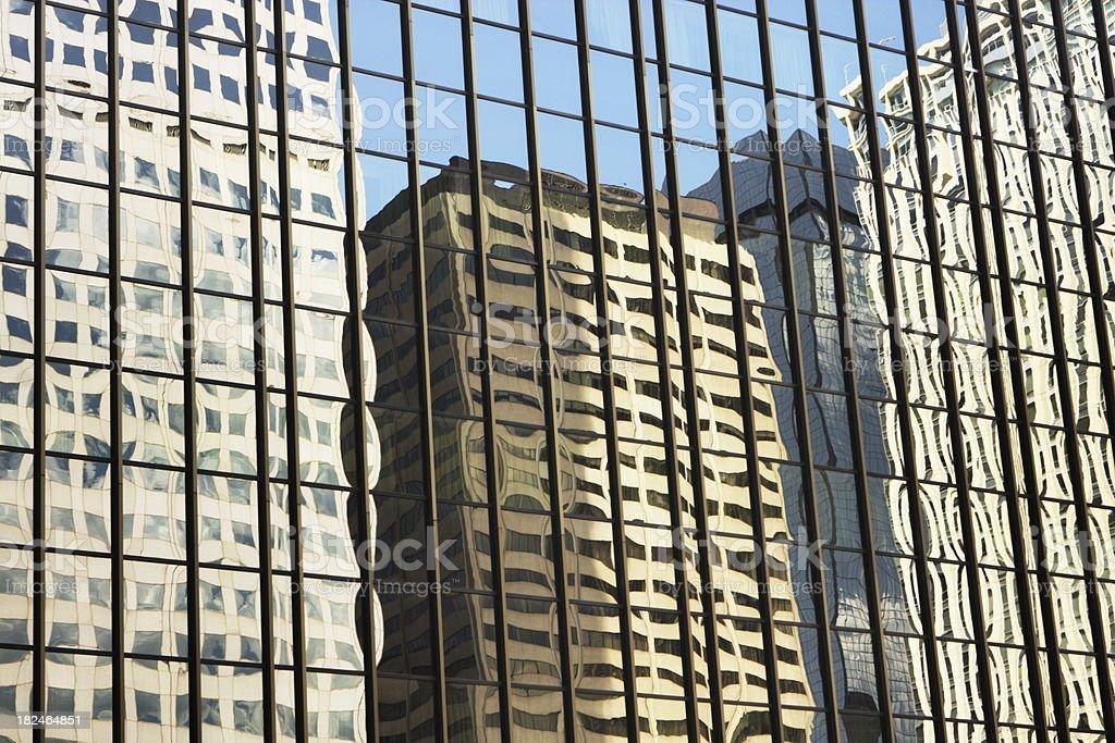 Office Building Facade Reflection royalty-free stock photo